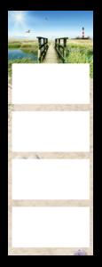 Calendrier 4 Mois super 1 Quadro Exemple